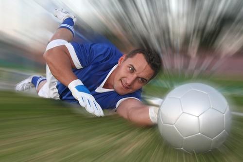 Goalkeeper Diving Down Low