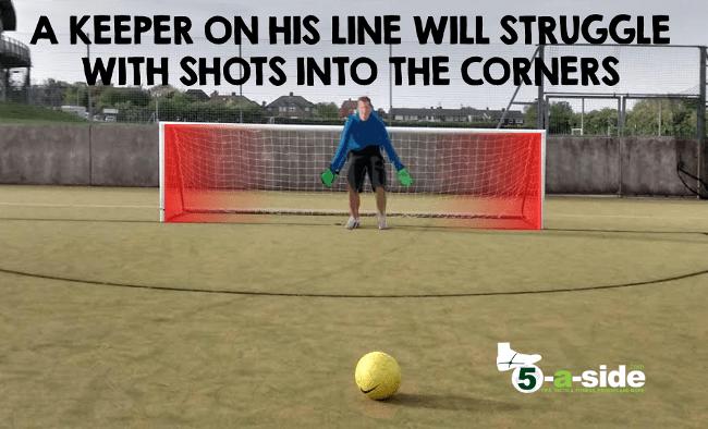 goalkeeper on line in 5-a-side