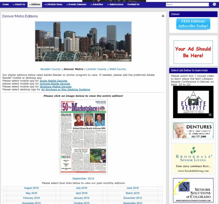 50 Plus News Website Advertise 2016