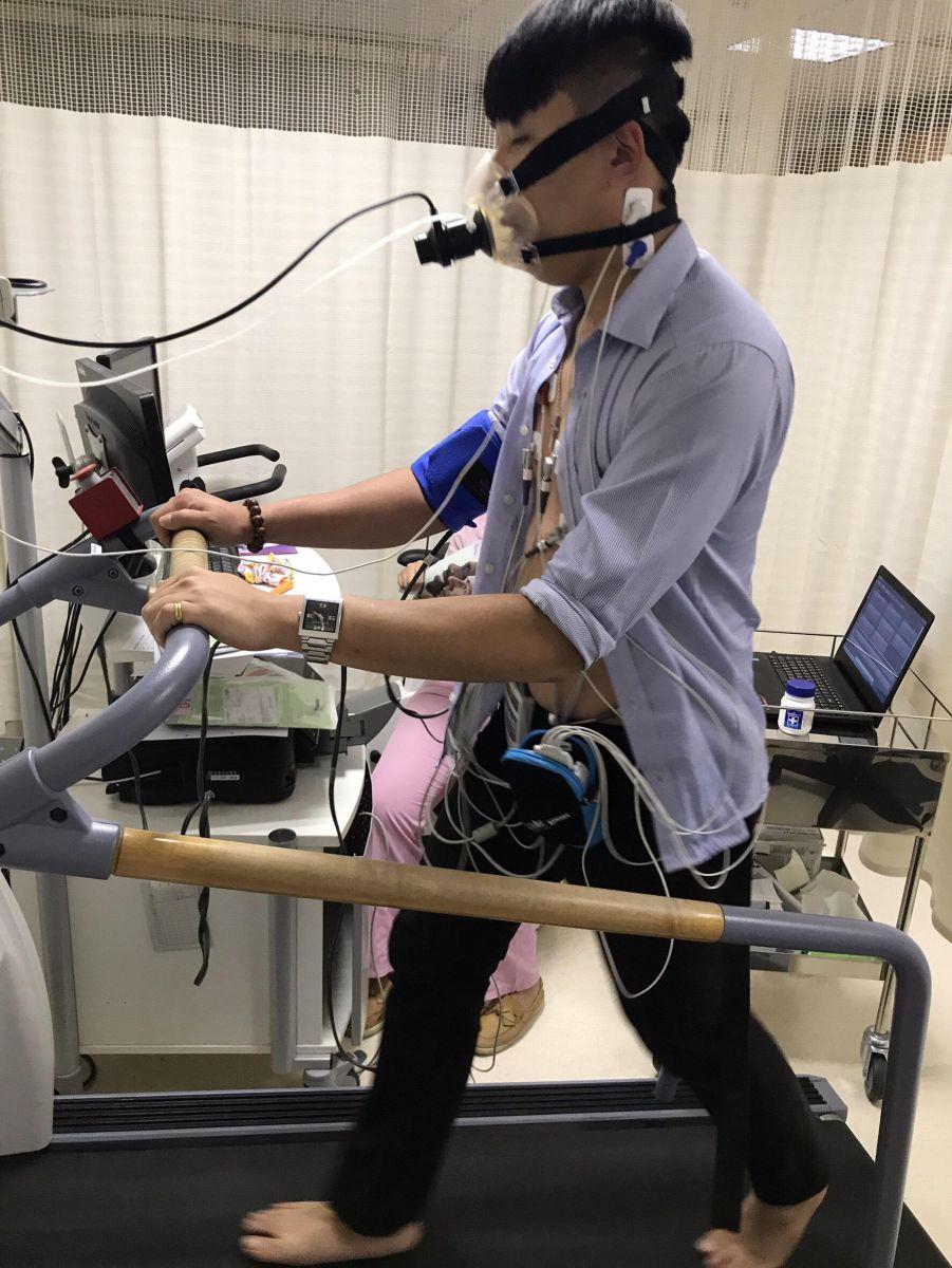 上圖:運動型心肺功能檢測
