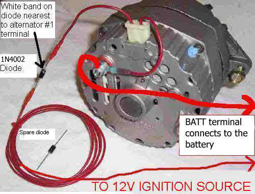 Chevy Alternator With Gauge Wiring Diagram As Well Wire Harness