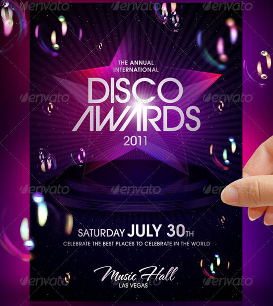 disco party template - party brochure template