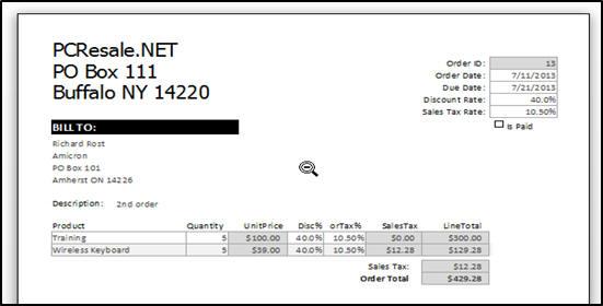 Microsoft Access Expert Level 9 Tutorial Printable Invoice