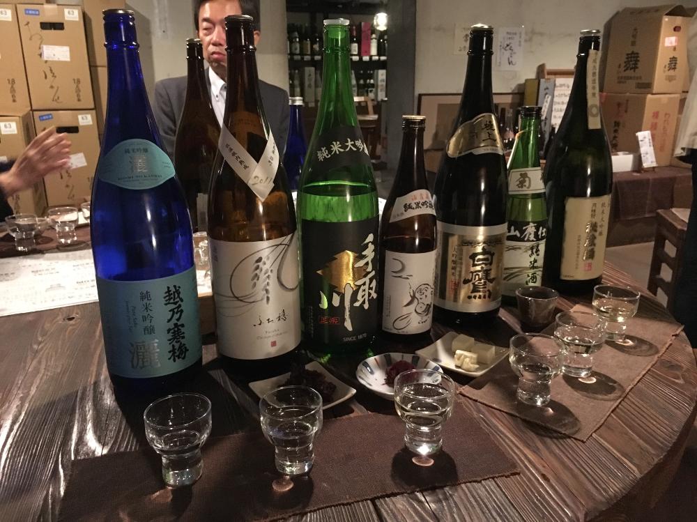 Shimata Shoten Tasting lineup
