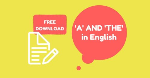 how to use a and the in English