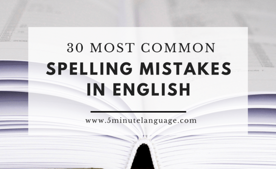 most common spelling mistakes in English