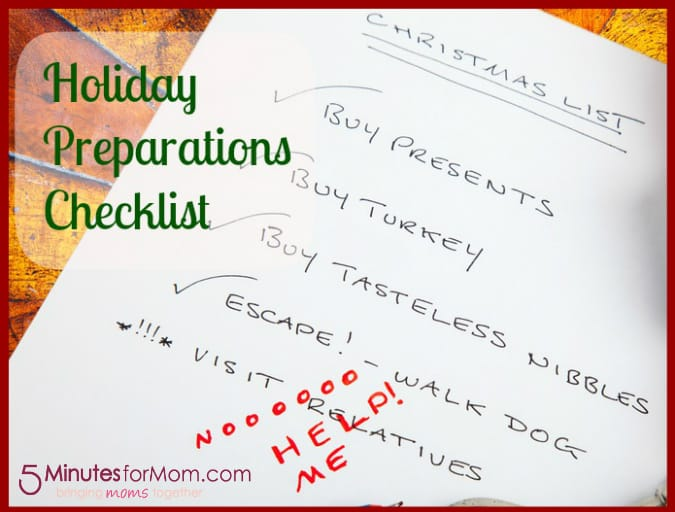Tackle It Tuesday Holiday Preparations Checklist