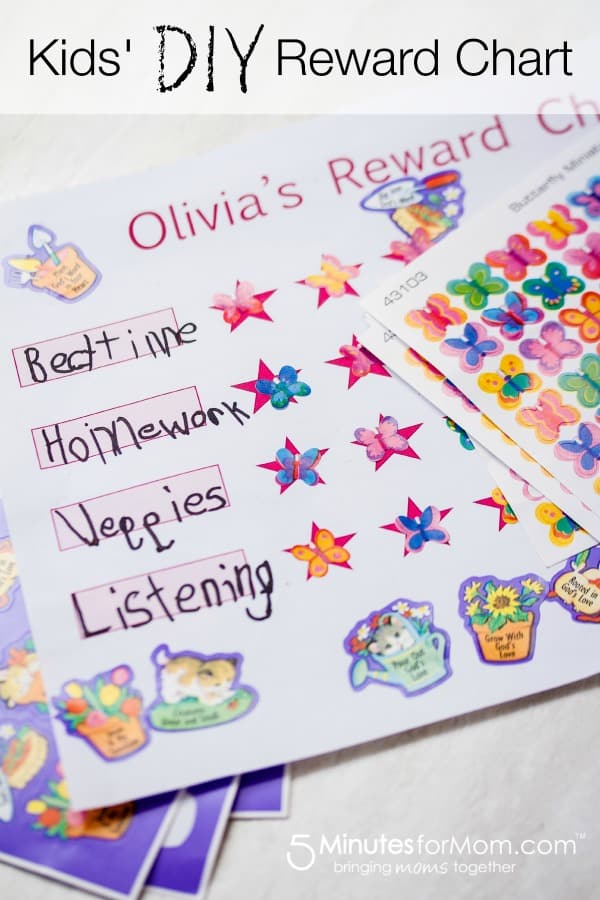 DIY Kids Rewards Chart - Kids Behavior Chart Template