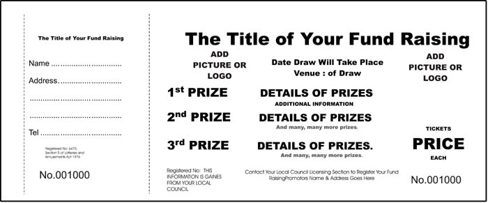 Blank Raffle Tickets Template Free 7 Best Images of Blank Printable - free raffle tickets template