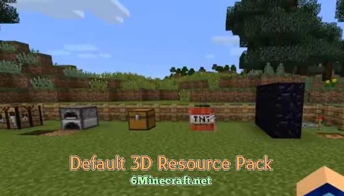 Default 3D Resource Pack 1132/1131/1122/1112/1102 - Minecraft