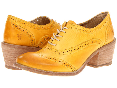 Frye Maggie Perf Wingtip (Yellow Veg Tan) Women's Lace Up Wing Tip Shoes