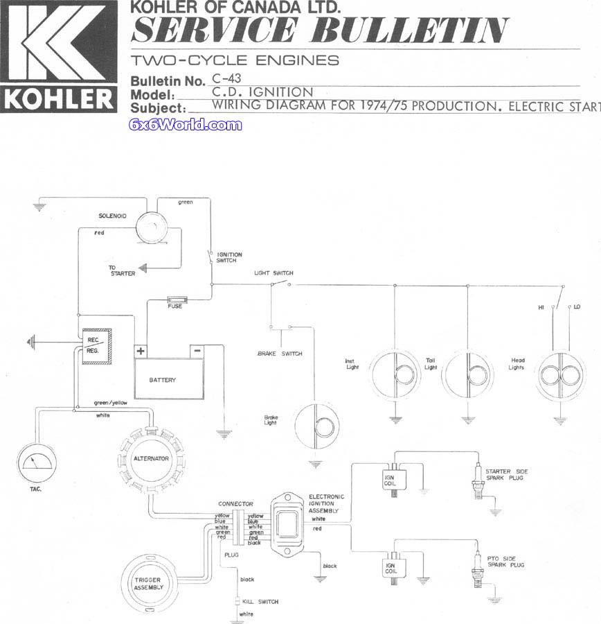Craftsman 15 Hp Kohler Wiring Diagram Free Download Schematic