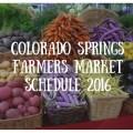 2016 Farmers Market Schedule