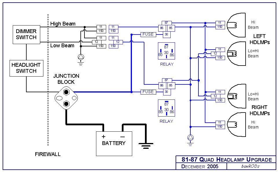 model a ford headlight wiring