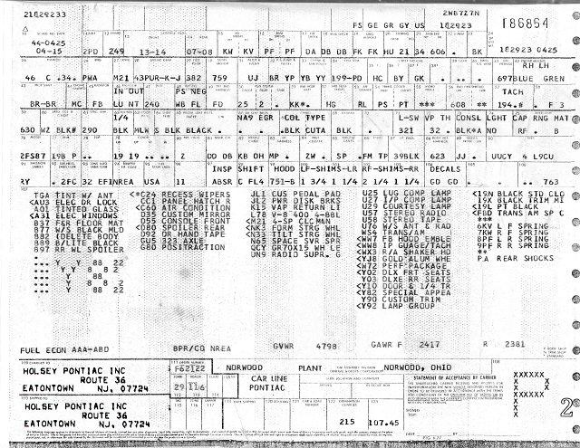 Hitman\u0027s Pontiac Trans Am Site