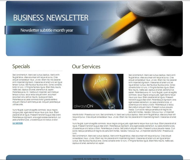 Employee Newsletter Templates hunecompany