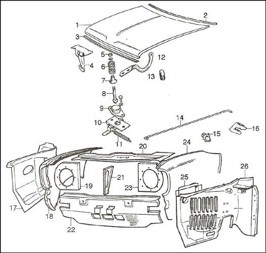 classic mini engine parts diagram