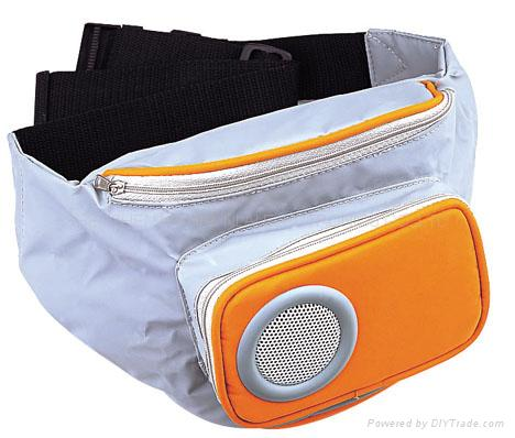 Waist pack's MP3 spraker bag
