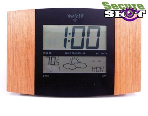Cordless Atomic Clock Nanny cam