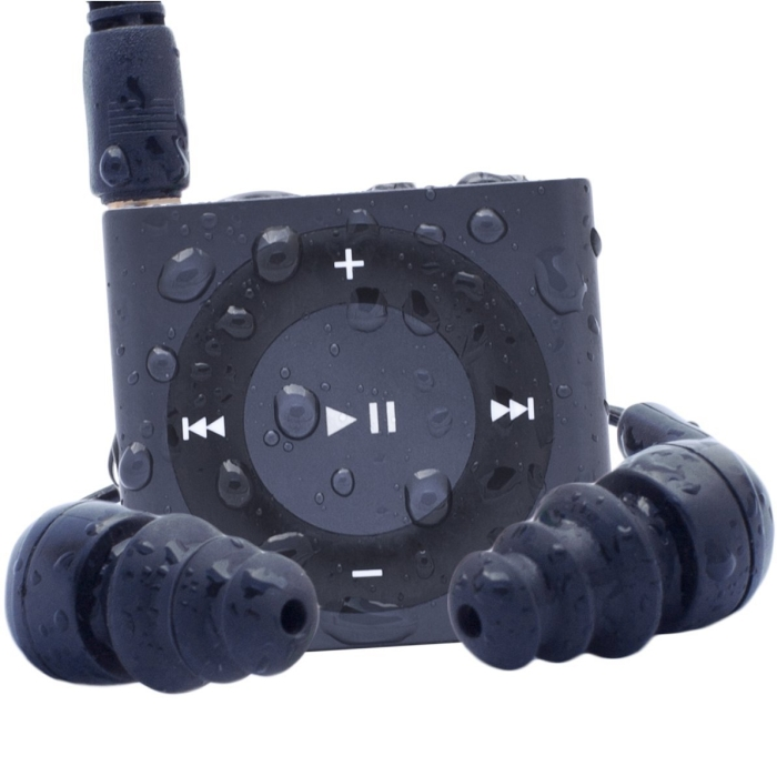 Waterfi Waterproof/Shockproof iPod Shuffle Swim Kit with Waterproof Headphones
