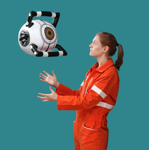 Portal 2 Inflatable Personality Core