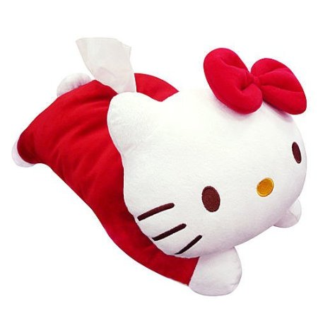 Hello Kitty Die-cut Kleenex Tissue Box Cover Plush Red