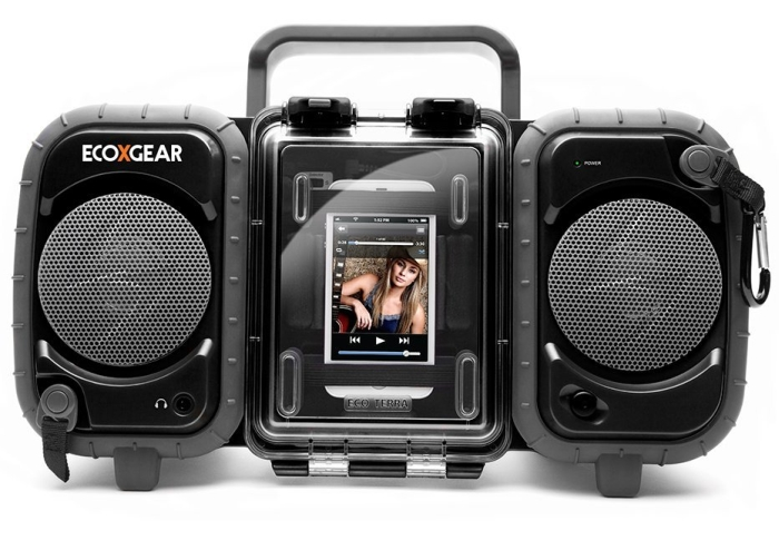 Rugged and Waterproof Stereo Boombox