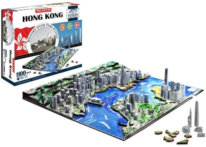 Amazon.com  4D Cityscape Hong Kong Skyline Puzzle - MAIN