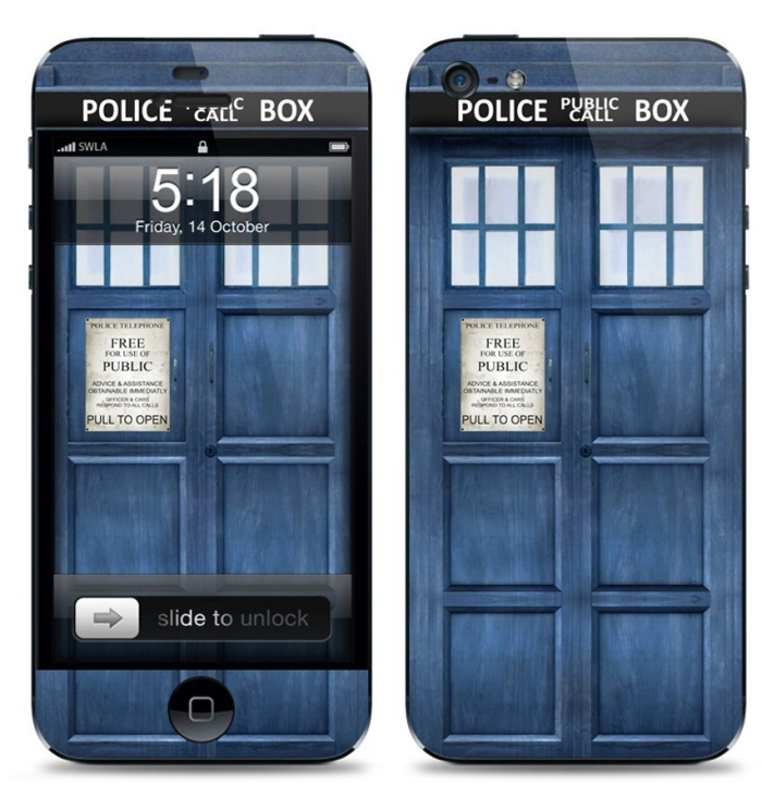 Amazon.com  Protection Kit for Apple iPhone 5 - Bumper Cover, Skin, Screen Protector - Police Box - MAIN