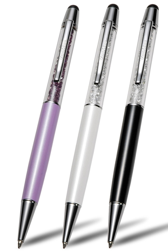 Amazon.com  YooMee 2-in-1 White Capacitive Touchscreen Stylus and Ballpoint Pen with Swarovski Crystals - PT02