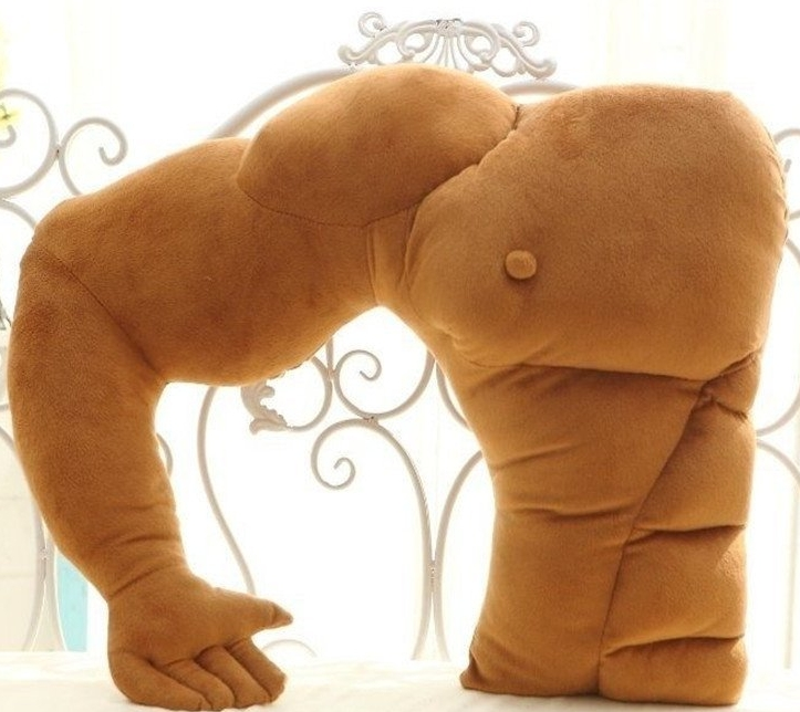 boyfriend muscle man body arm plush cotton pillow. Black Bedroom Furniture Sets. Home Design Ideas