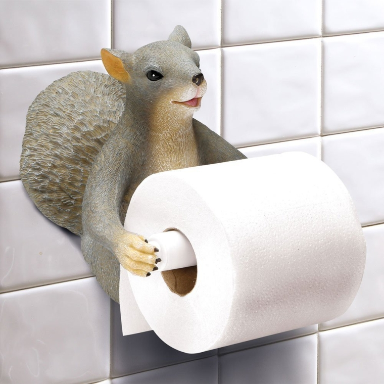 Squirrel wall mount toilet paper roll holder Animal toilet paper holder