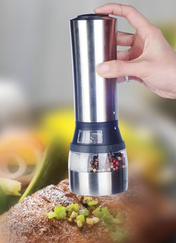 Automatic Salt Dispenser ~ In electric salt and pepper grinder set