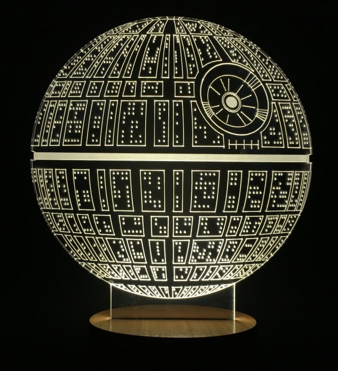 death star table lamp micro usb mood lamp. Black Bedroom Furniture Sets. Home Design Ideas