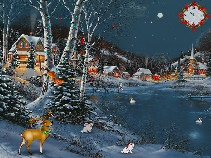 3d Moving Fireplace Wallpaper Christmas Delight Free Christmas Screensaver