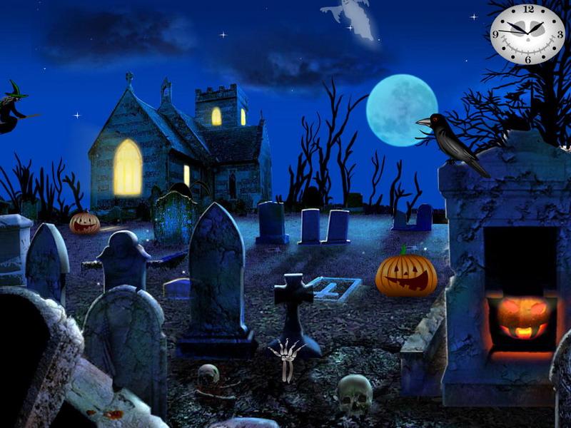 Fall Graveyard Cemetery Wallpaper Graveyard Party Free Halloween Screensavers