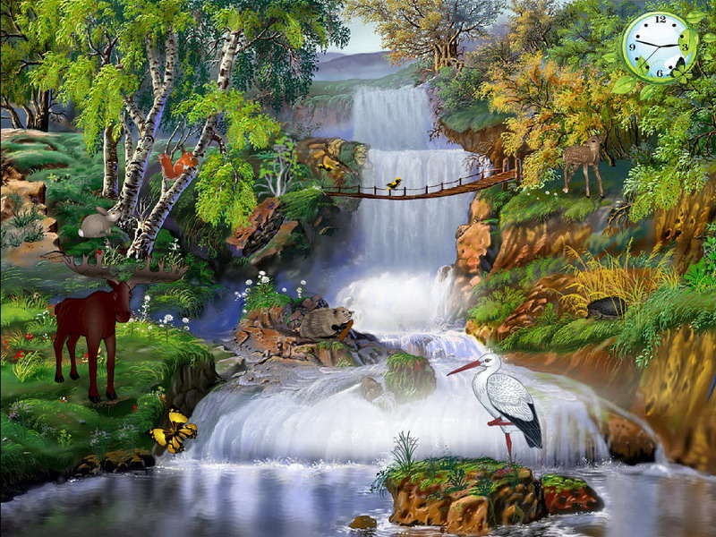Animated Wallpapers For Desktop Windows Xp Free Download Magic Of Nature Free Nature Screensavers