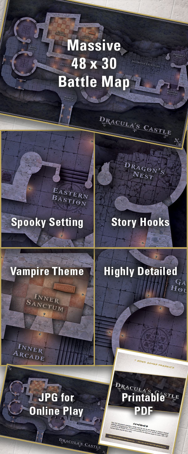 7 Sided Games – Draculas Castle Details