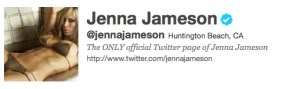 Jenna Jameson verified on Twitter