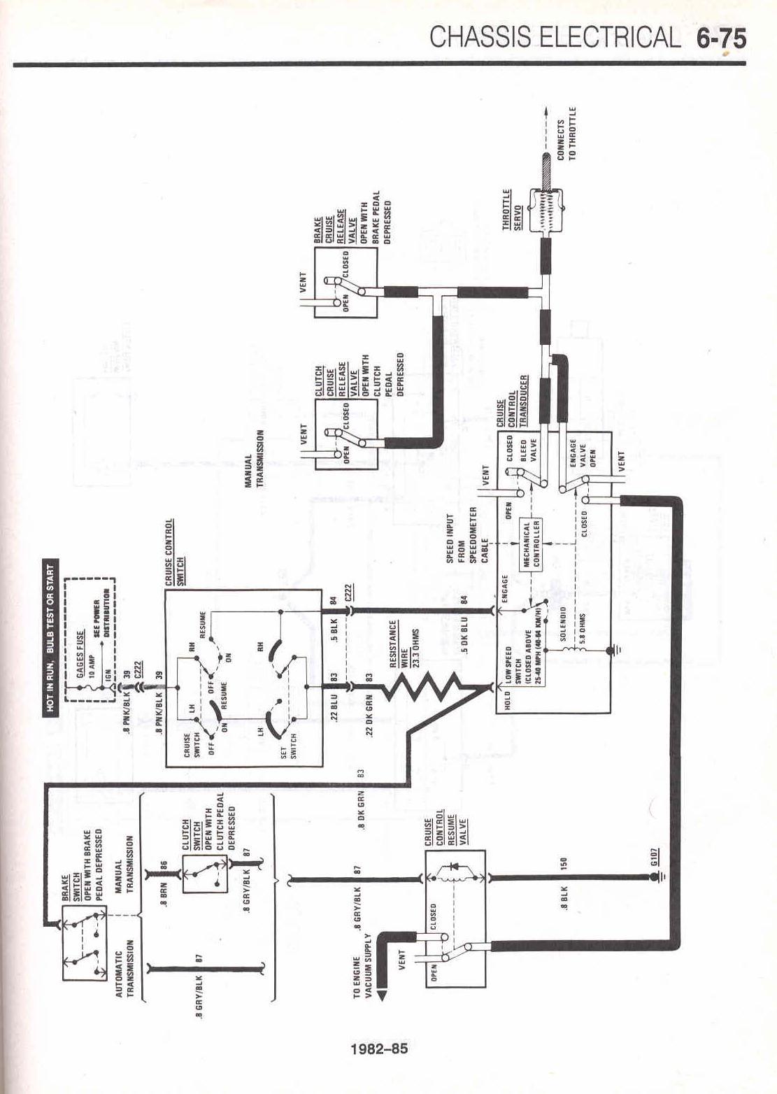 85 camaro dash wiring diagram schematic