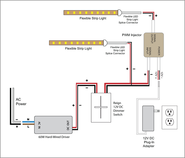 88Light - Reign 12V LED Dimmer Switch wiring diagrams