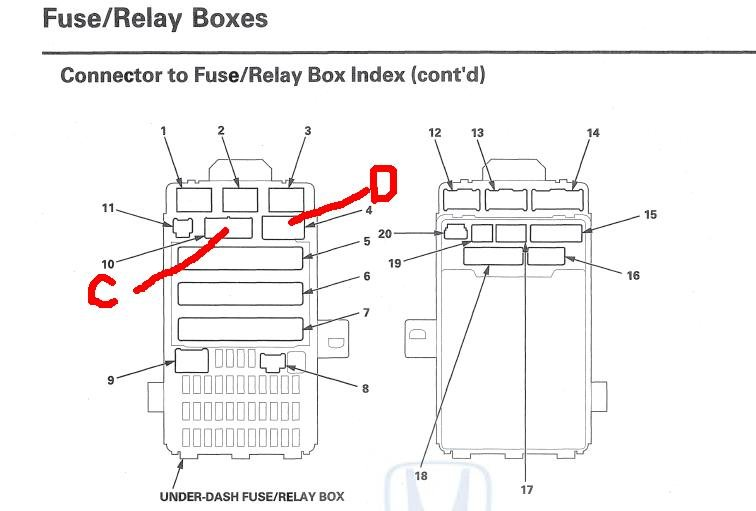 Identiying Ignition Sense Connector (Under-dash fuse/relay box end