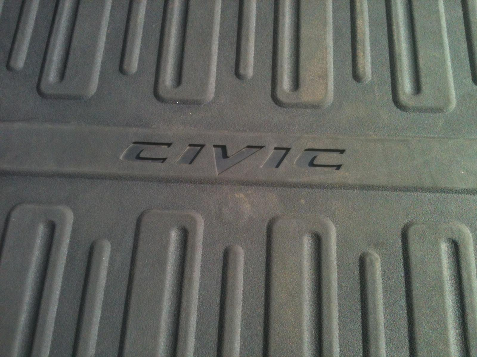 Painting rubber floor mats civic