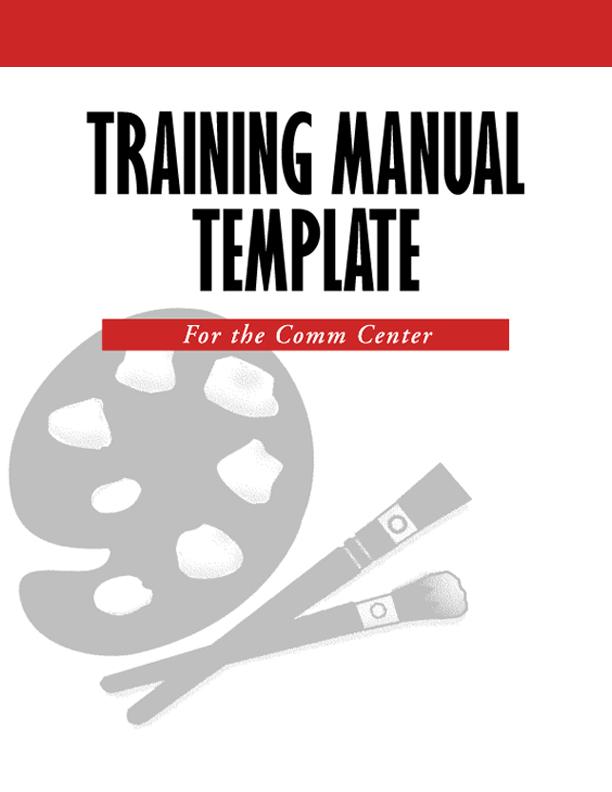 TrainManualTemplateCvrjpg - sample training manual template