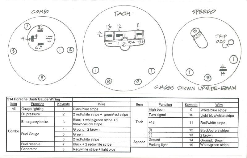 porsche 914 tachometer wiring