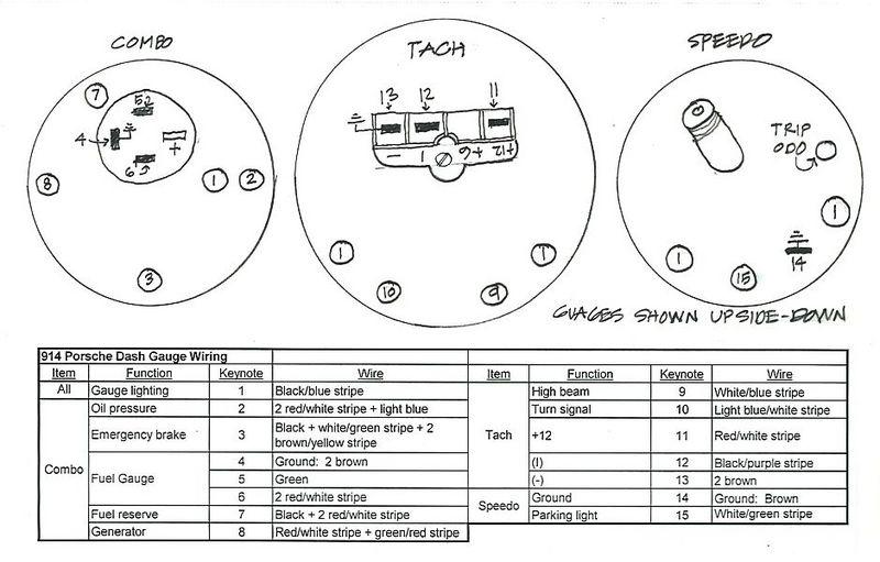 porsche 914 tach wiring