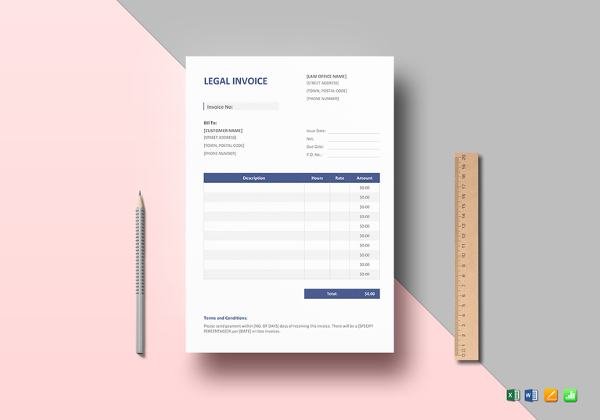 Legal-Invoice-Template - 99 Dollar Social - Affordable Low Cost