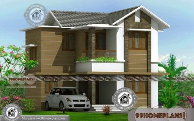 Two Floor Home Design with Sloped Roof Cute Architects Structural Plans