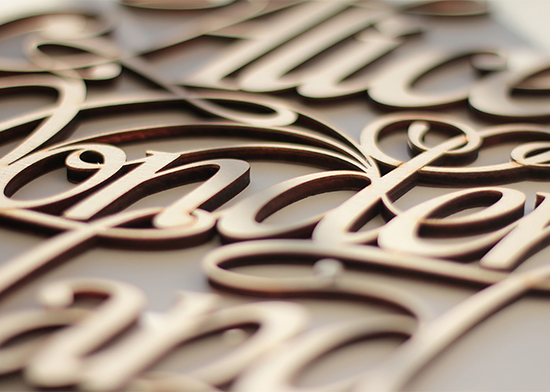 Unique Wood Lettering  Design by Future Marquetry 99inspiration