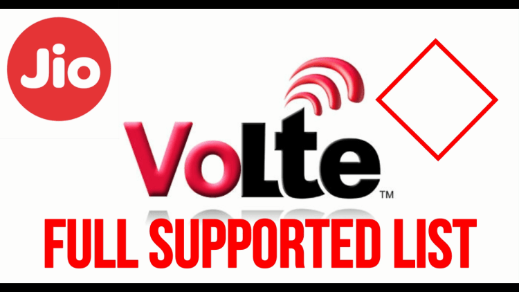 Reliance Jio 4G VoLTE Supported phones